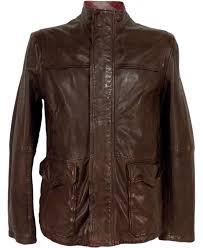 brown jerian 50297050 sheep skin leather jacket