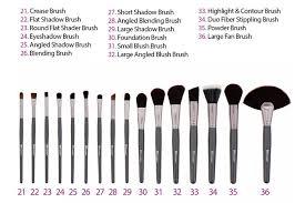 32 makeup brush set names