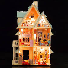 fun mood gifts miniature diy doll house model kits wooden furniture toys birthday gifts for child friend dollhouse set best dollhouses for kids