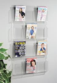 Clear Acrylic Magazine Holder Amazing Clear Acrylic Magazine Rackdisplay Shelf Ls Magazine Models Buy