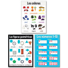 Shapes Chart Colors Shapes And Numbers Chart Pack En Espanol