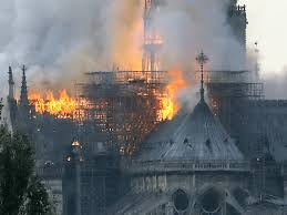 Paris: Notre-Dame Cathedral Burns, Charred Timbers of Medieval Spire ...