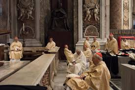 go behind the scenes in vatican city this photo series early morning inside st peter s and senior clergymen are dressed and waiting for the beginning of