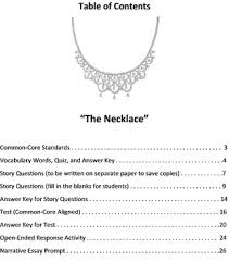 the necklace test and study guide by a plus literature guides tpt the necklace test and study guide