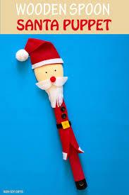wooden spoon santa puppet craft