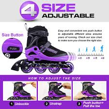 Amazon Com Papaison Adjustable Inline Skates For Kids And
