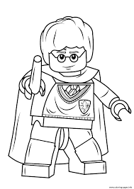 Print Lego Harry Potter With Wand Coloring Pages Lego World
