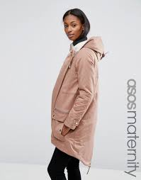 Asos Design Waterfall Parka With Borg Liner Asos Maternity Waterfall Parka With Borg Lining Ml