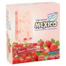 Strawberry Kitchen Curtains Helados Mexico Strawberry Premium Ice Cream Bars 30 Fl Oz 6