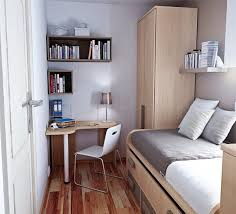 Small Dorm Room Design Ideas With Modern Furniture And Neutral Wall