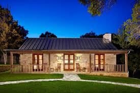 Hill country retreat farmhouse exterior