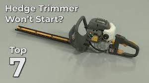 top reasons hedge trimmer won t start