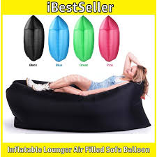 inflatable lounge furniture. inflatable sofa lounger air filled balloon bed portable hangout wind sleeping bag camping beach lounge furniture f
