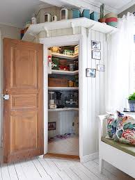 Practical pantry in a nook. of alles wat vir entertainment is - borde,  messe  Pantry IdeasCloset ...