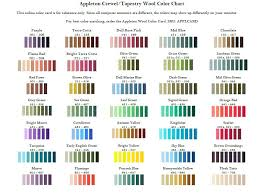 Mettler Color Chart 63 Punctual Appleton Tapestry Wool Conversion Chart