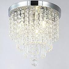 modern square flush mount ceiling light fresh crystal chandelier lighting for