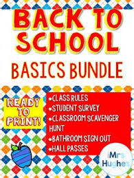 Back To School Basics Bundle! Survey! Rules! Sign Out Sheet! By ...