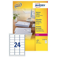 avery sheet labels avery laser address labels 24 per sheet white 100 sheets l7159 100