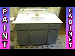 Refinishing Bathroom Vanity Amazing Paint A Cabinet Bathroom Kitchen Cabinets HOW TO Painting Tips