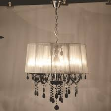 Stage Lighting Modern Crystal Chandeliers Led Lamps Whiteblack