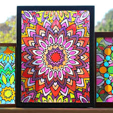 faux stained glass mandalas next prev free tutorial with pictures on how to make a window decoration in under 120 minutes