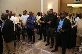 a section of the aunce at last evening s launch of the african business roundtable
