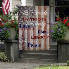 personalized garden flags patriotic family 14576