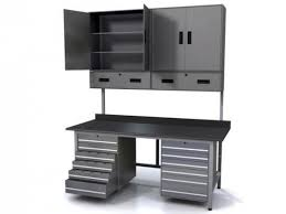 metal workbench with drawers. workbench with metal tool drawers