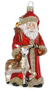 Inge Glas Christbaumschmuck Weihnachtskugeln Figuren Santa Aus Dem Wald 14cm