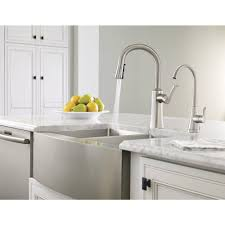 Moen One Touch Kitchen Faucet Moen Etch Single Handle Pull Down Sprayer Kitchen Faucet With