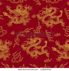 Dragon Pattern Delectable Vector Seamless Pattern With Feng Shui MotivesChina Dragon Modern