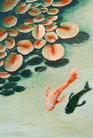 saatchi art artist danijela dan painting pond water lilies and the koi