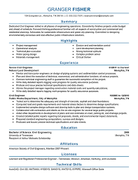 Civil Engineer: Resume Example. Create my Resume