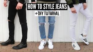 How To Style <b>Jeans</b> / Distressed <b>Denim</b> + DIY Tutorial - <b>Mens</b> ...