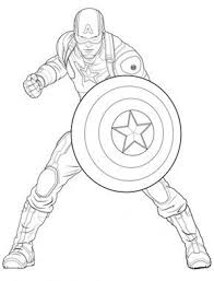 Avengers Captain America Coloring Page From Marvels The Avengers