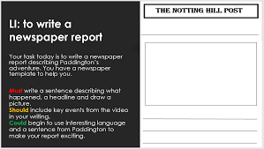 Ks1 Paddington Bear Christmas Advert Literacy Lesson Newspaper Reports Lesson Planned A Marketplace For Teaching Resources