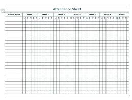 Weekly Attendance Register Template Free Attendance Sheet Printable Register 2018 Templates