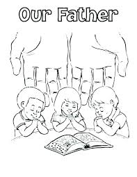 Child Praying Coloring Page Lds Children Pages Prayer Es Kids Pic
