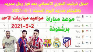 ترتيب الدوري الاسباني وترتيب الهدافين الجولة 34 اليوم السبت 1-5-2021- فوز  ريال مدريد واتليتكو مدريد - YouTube