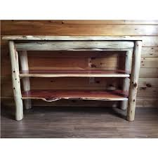live edge tv stand. Plain Stand Rustic Red Cedar Log Live Edge TV Stand  Console Table For Tv T