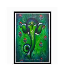 ganesha wall art large canvas painting