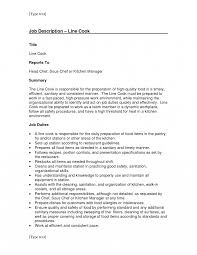 Line Cook Job Description Template Resume Duties Jd Templates
