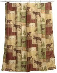 Amazon.com: Bacova Guild Mountain Lodge Fabric Shower Curtain ...