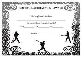 softball award certificate free softball certificates to print rome fontanacountryinn com