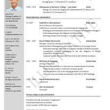 Resume Format Doc File Download Latest Free 2015