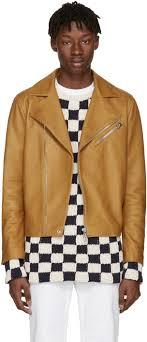 acne studios brown leather axl jacket men acne studios era coat acne studios mape leather jacket top designer collections