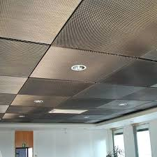 diy drop ceiling drop ceiling tiles painted with metallic aluminum paint paint tiles covered with a diy drop ceiling