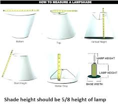 How To Measure Lamp Shade Inspiration Measuring Lamp Shades How To Measure Lamp Shades How To Measure A