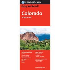Colorado Mileage Chart Colorado Easy To Read Folding Travel Map