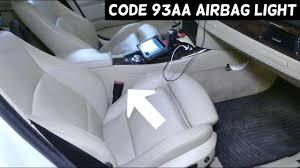 Bmw 3 Series Airbag Light Bmw E90 E91 E92 E93 Airbag Light On Code 93aa Seat Belt Passenger Side